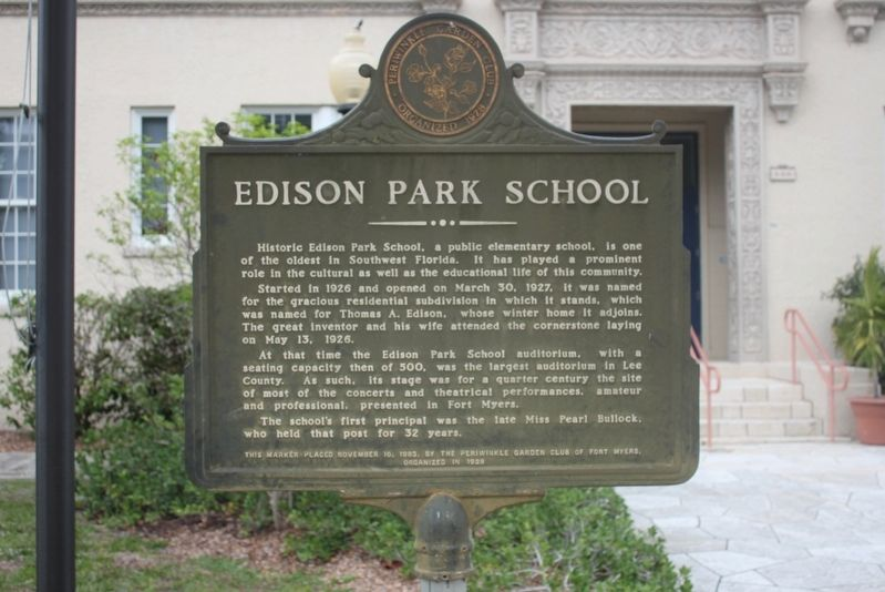 Edison Park School Marker image. Click for full size.