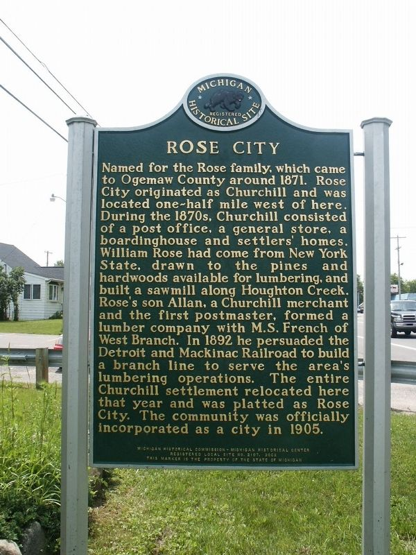 Rose City / The Big Fire Marker image. Click for full size.