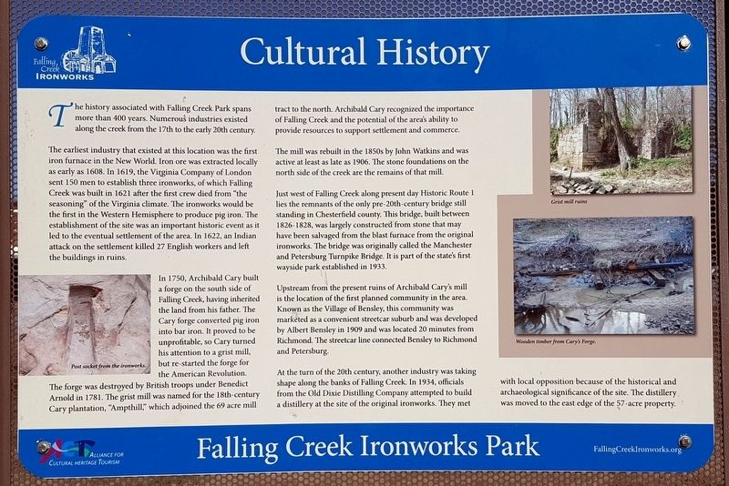 Cultural History Marker image. Click for full size.
