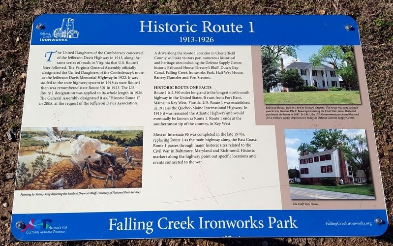 Historic Route 1 Marker image. Click for full size.