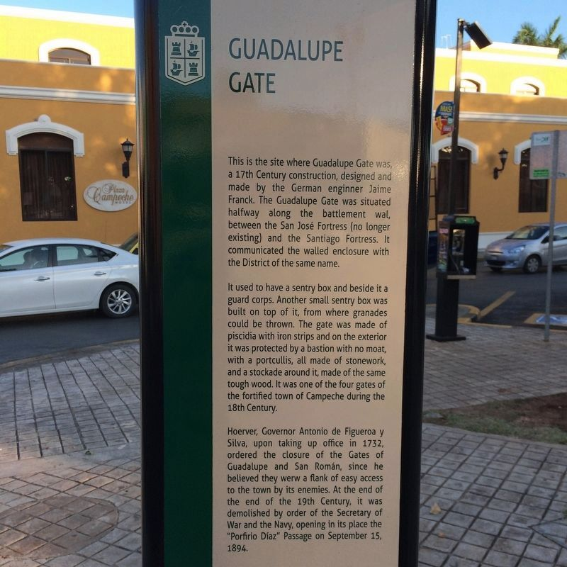 The Guadalupe Gate Marker image. Click for full size.