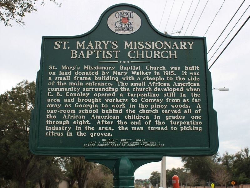 St. Mary's Missionary Baptist Church/Datson Dairy Marker image. Click for full size.