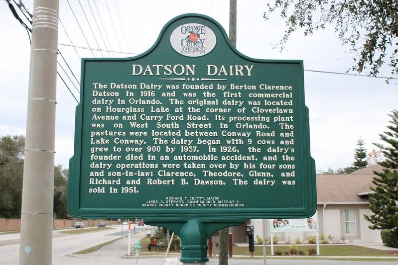 St. Mary's Missionary Baptist Church/Datson Dairy Marker Side 2 image. Click for full size.
