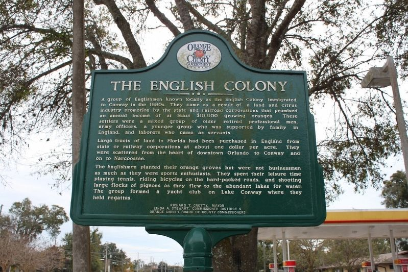 The English Colony/The Polo Club Marker Side 1 image. Click for full size.