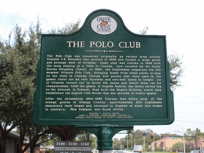 The English Colony/The Polo Club Marker Side 2 image. Click for full size.