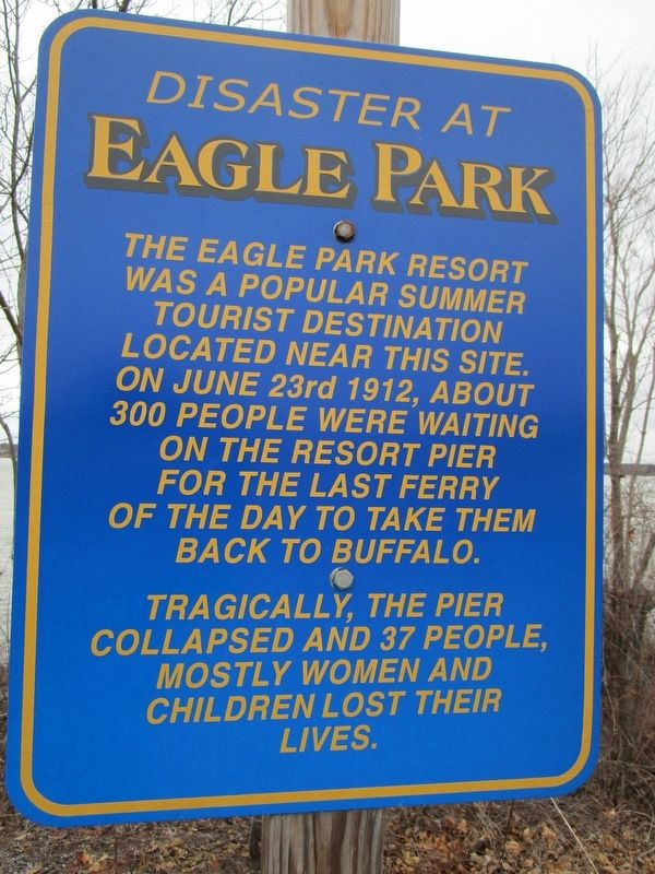 Disaster at Eagle Park Marker image. Click for full size.