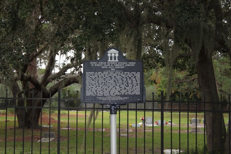 Bethel African Methodist Episcopal Church of Merritt Island & Community Cemetery Marker image. Click for full size.
