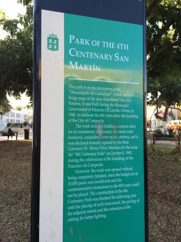 Park of the 4th Centenary San Martín Marker image. Click for full size.