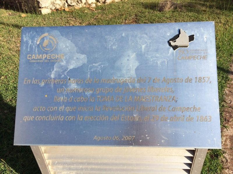 An additional marker outside of the Bastion of Santiago image. Click for full size.