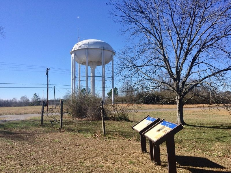View from markers of County water tower and County Road 1136. image. Click for full size.
