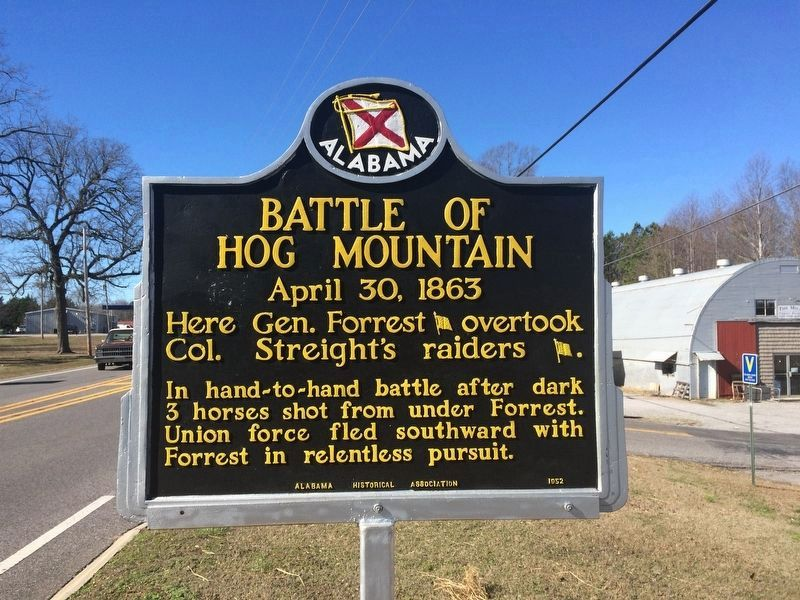A nearby marker about the Battle of Hog Mountain. image. Click for full size.