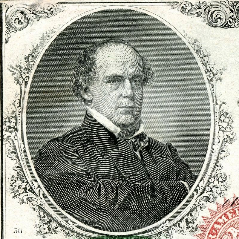 Salmon P. Chase on the U.S. $1 Bill image. Click for full size.