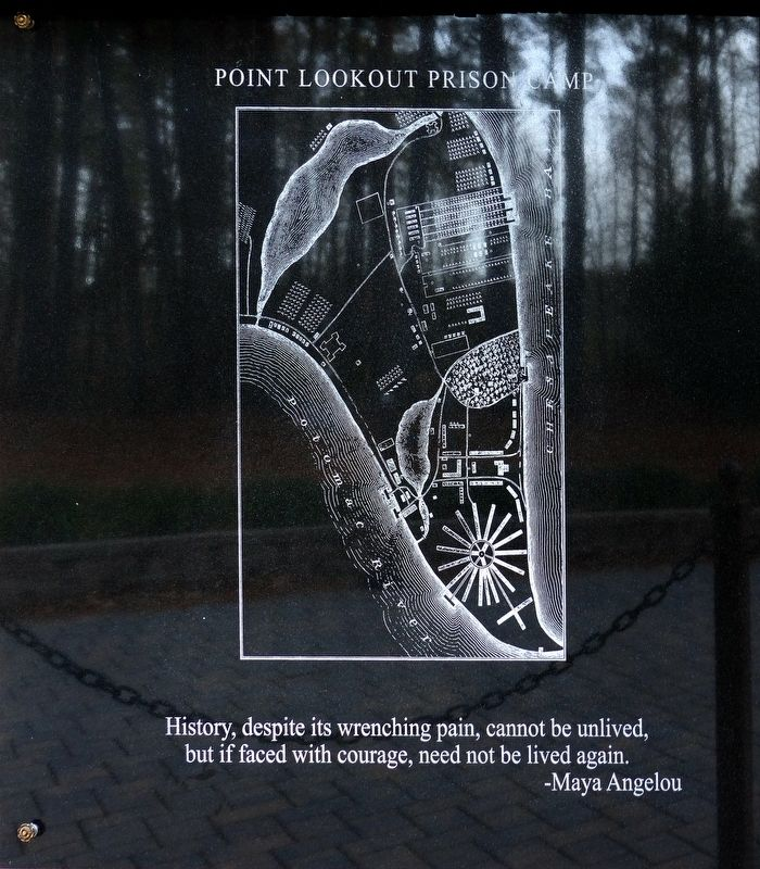 Point Lookout Prison Camp Marker image. Click for full size.