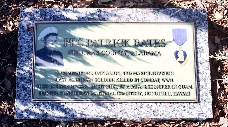 PFC Patrick Bates Monument image. Click for full size.
