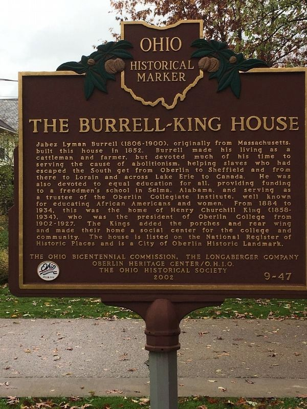 The Burrell-King House Marker image. Click for full size.