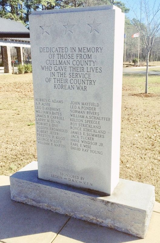 Cullman County Korean War Memorial image. Click for full size.