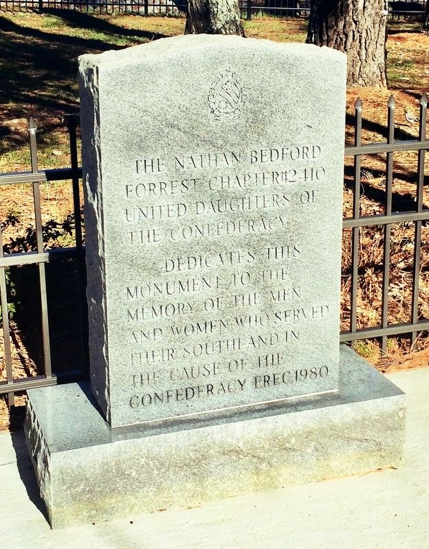United Daughters of the Confederacy Memorial image. Click for full size.