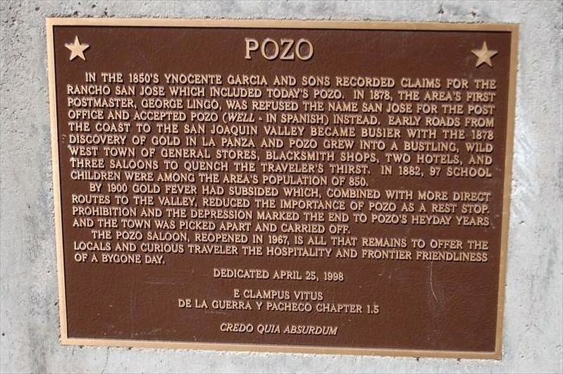 Pozo Marker image. Click for full size.