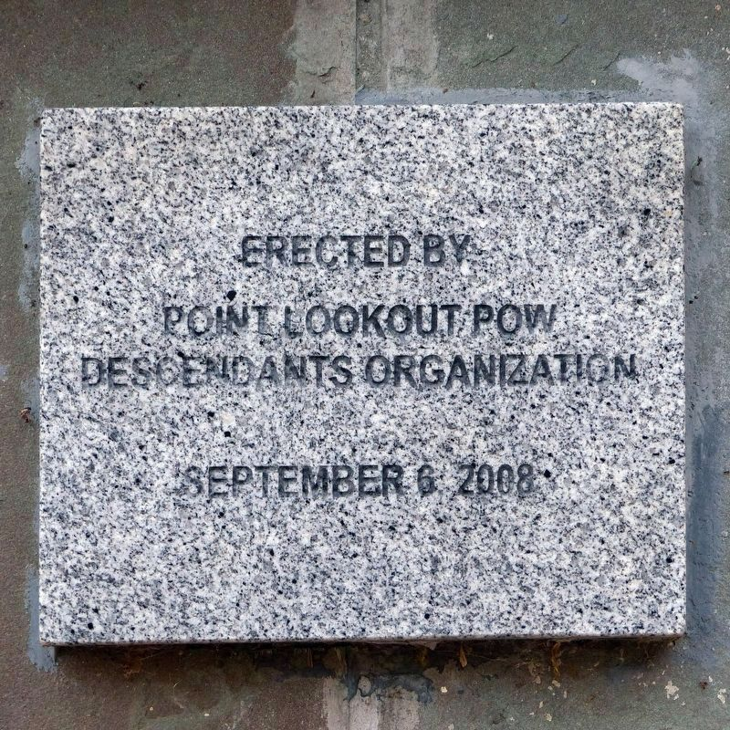 Erected by Point Lookout POW Descendants Orgranization<br>September 6, 2008 image. Click for full size.