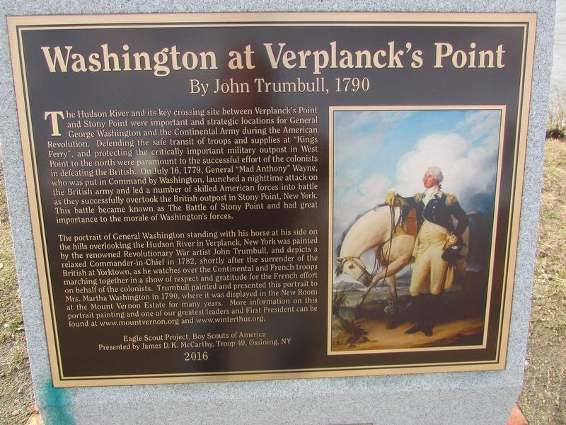 Washington at Verplanck's Point Marker image. Click for full size.