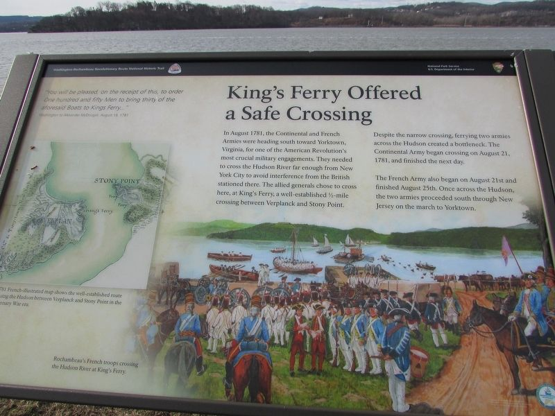 King's Ferry Offered a Safe Crossing Marker image. Click for full size.