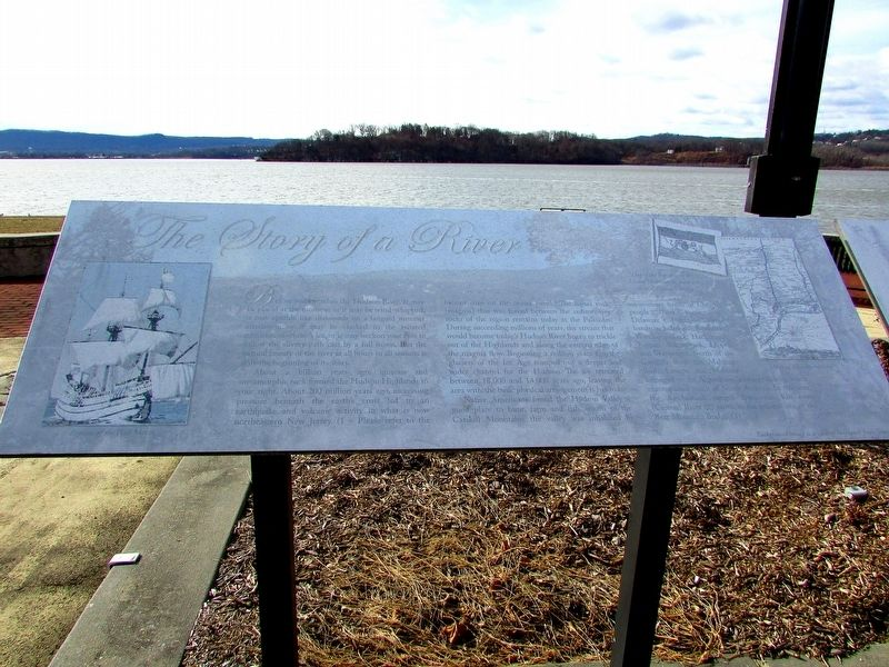 The Story of a River Marker (Left Panel) image. Click for full size.
