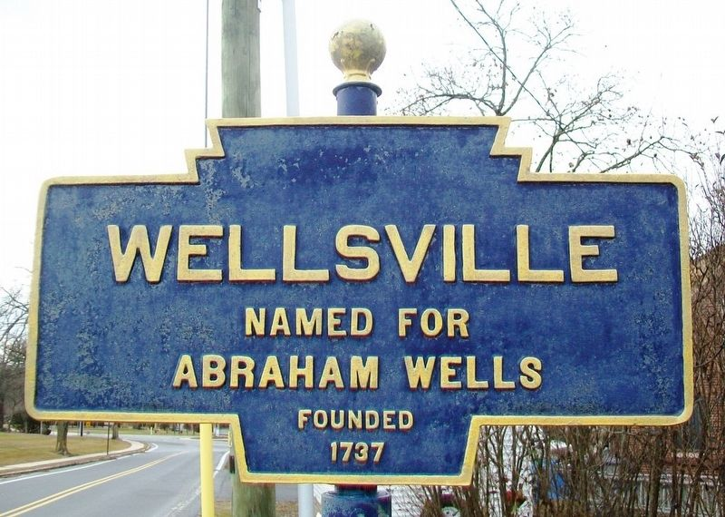 Wellsville Marker image. Click for full size.