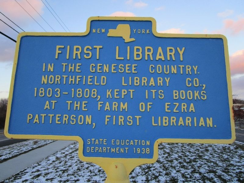 First Library Marker image. Click for full size.