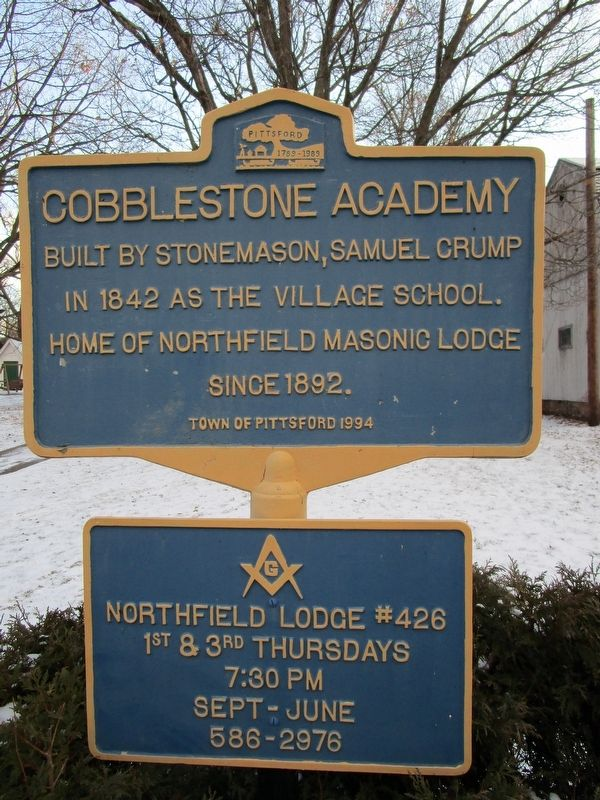 Cobblestone Academy Marker image. Click for full size.