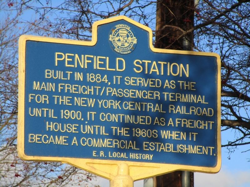 Penfield Station Marker image. Click for full size.