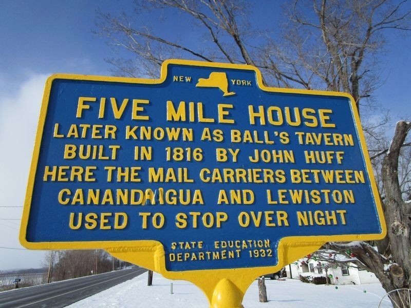 Five Mile House Marker image. Click for full size.