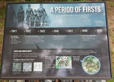 A Period of Firsts Marker image. Click for full size.