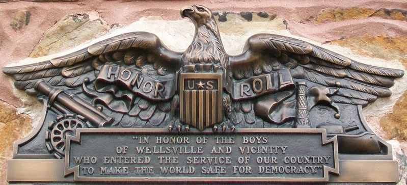 World War I Memorial Marker Detail image. Click for full size.