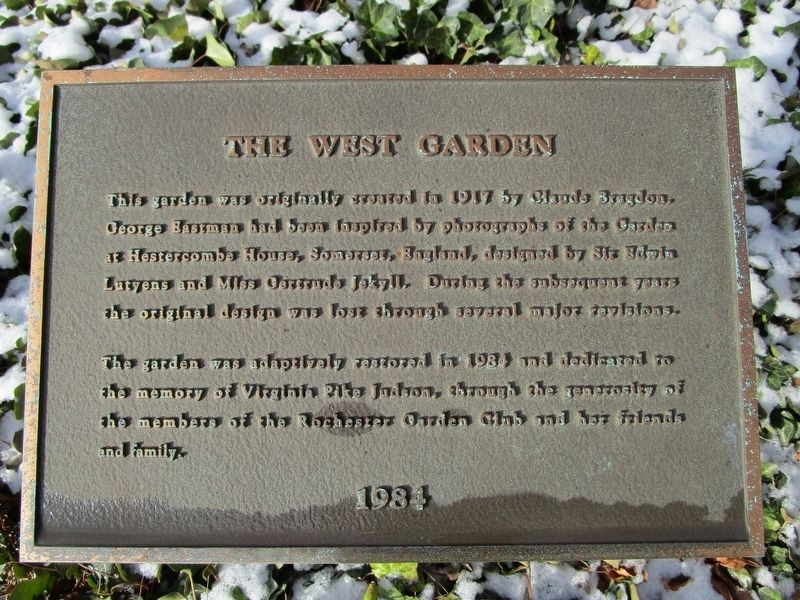 The West Garden Marker image. Click for full size.