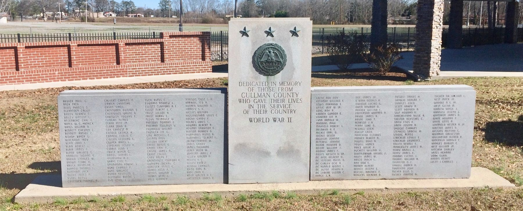 Cullman County WWII Memorial image. Click for full size.