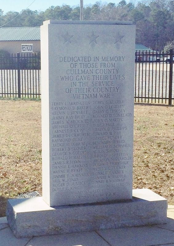 Cullman County Vietnam Memorial image. Click for full size.