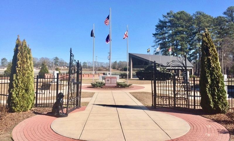 Cullman County Veterans Memorial Park entrance. image. Click for full size.