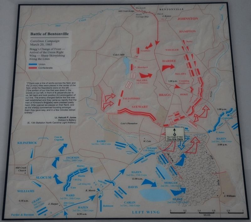 Battle of Bentonville Map image. Click for full size.
