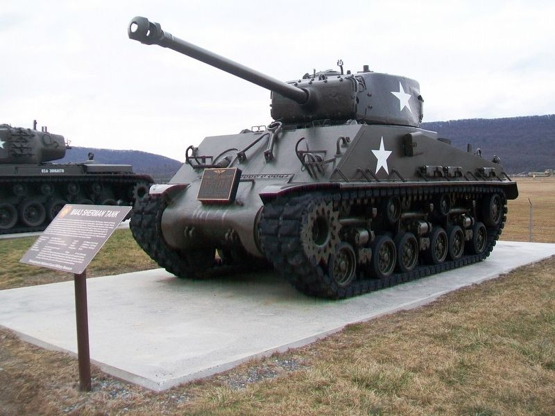 M4A3 Sherman Tank and Marker image. Click for full size.