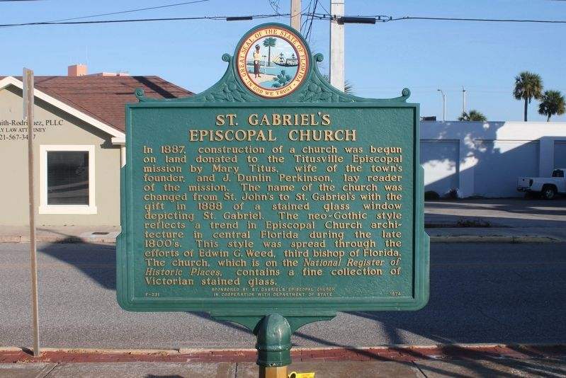 St. Gabriel's Episcopal Church Marker image. Click for full size.