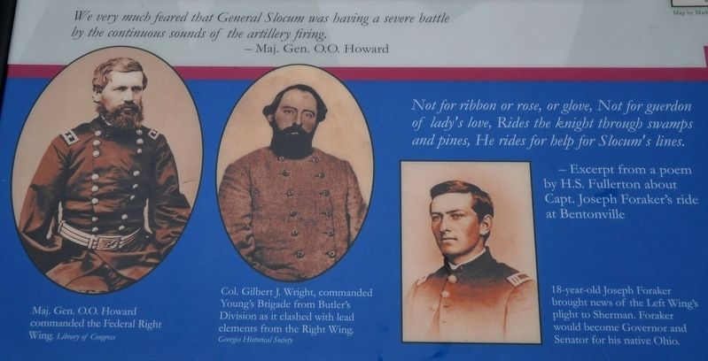 Maj. Gen. O.O. Howard, Col. Gilbert J. Wright, & Joseph Foraker image. Click for full size.
