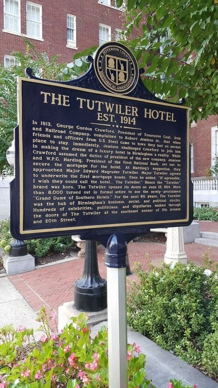 The Tutwiler Hotel Marker image. Click for full size.