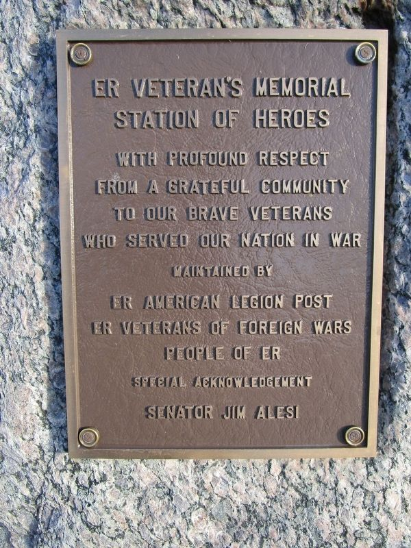 ER Veteran's Memorial Marker image. Click for full size.
