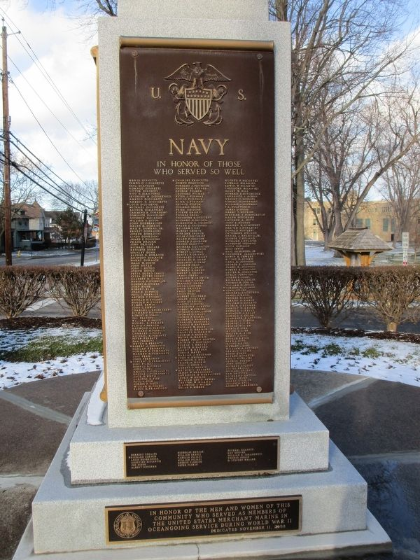 U.S. Navy. In Honor of Those Who Served So Well. image. Click for full size.