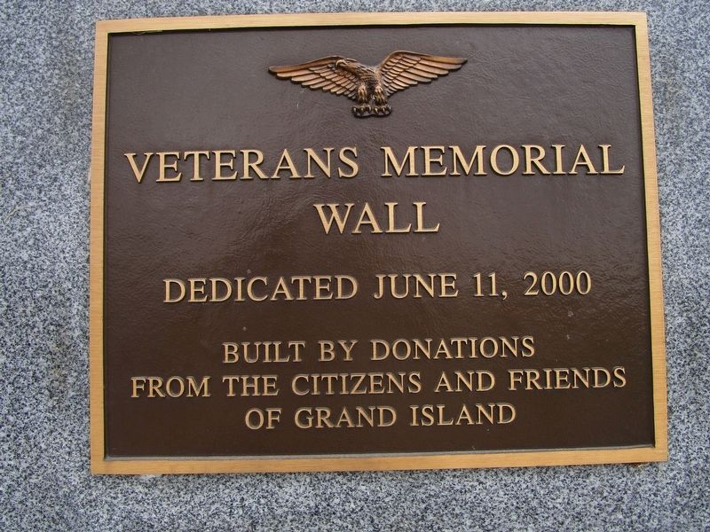 Dedication Plaque - Back of Wall image. Click for full size.