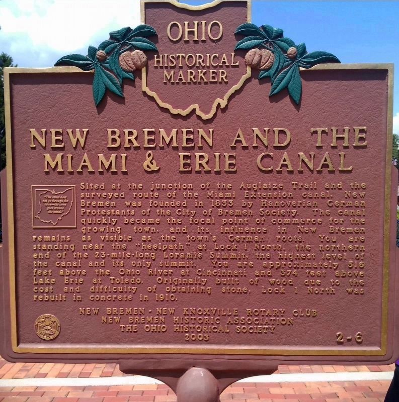 New Bremen and The Miami & Erie Canal Marker (Side 2) image. Click for full size.