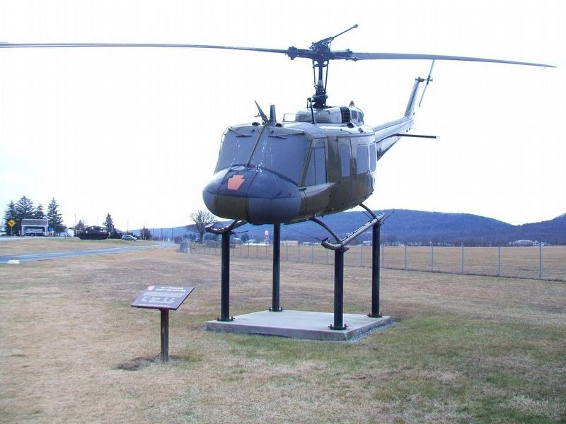 UH-1 Iroquois and Marker image. Click for full size.
