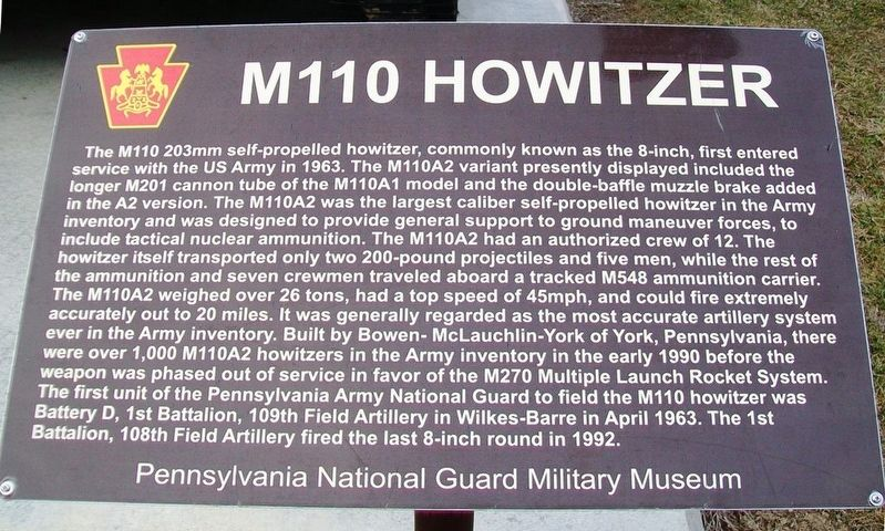 M110 Howitzer Marker image. Click for full size.
