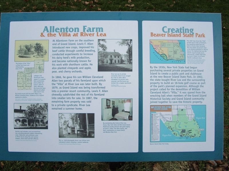 Allenton Farm/Creating Beaver Island State Park Marker image. Click for full size.
