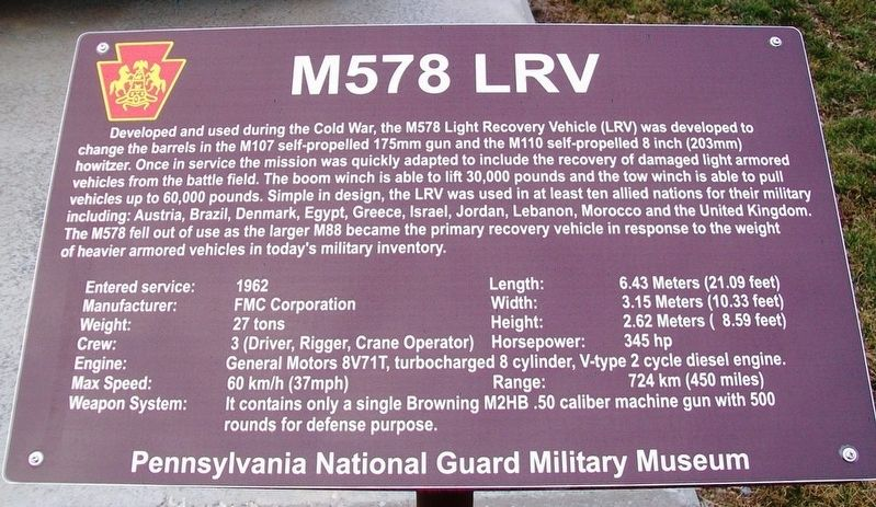 M578 LRV Marker image. Click for full size.